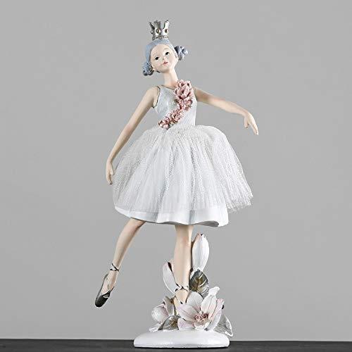 GIAO Adornos para Salon Modernos Decoracion Casadecoración De Resina De Niña De Ballet Romántica Cálida Habitación Infantil Decoración Suave para El Hogar