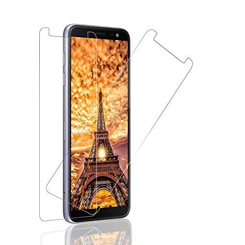 SNUNGPHIR Cristal Templado Samsung Galaxy J6 2018 Protector Pantalla Samsung Galaxy J6 2018 Cristal Vidrio Templado Protector Pantalla [9H Dureza] [Alta Definicion] para Samsung Galaxy J6 2018 [2pcs]