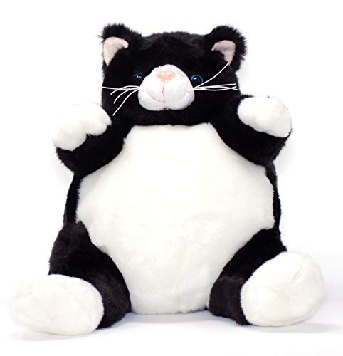 Unipak PLUMPEE BLACK AND WHITE CAT PLUSH TOY 9' HIGH