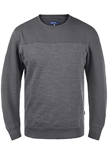 Blend Tok Herren Sweatshirt Pullover Pulli mit Rundhalsausschnitt, Größe:L, Farbe:Iron Gate (193910)
