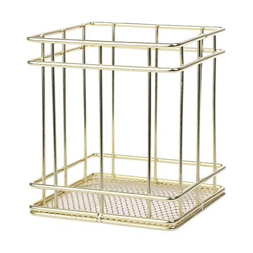 Wenyounge Caja de Soporte para de Metal Dorado, Organizador de Caja, Oficina, Escritorio, Escritorio, papelería, decoración, Suministros Escolares de Oficina, Accesorios
