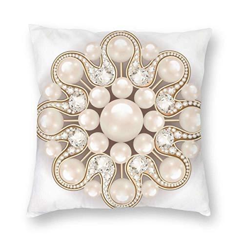N\A Spilla Mandala Elemento di Design di Gioielli Fodera per Cuscino con Perle Fodera per Cuscino da tiro Fodera per Cuscino Quadrato