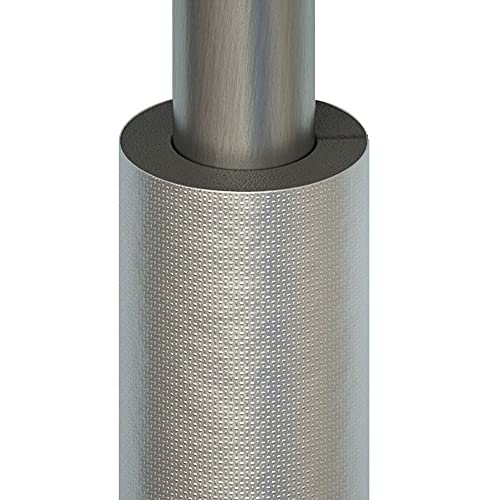 ASDFGHJ Aislamiento de Tubería de Espuma de Goma de 0,95 M,Tubo de Aislamiento Térmico de Papel de Aluminio Autoadhesivo con Abertura, Material Grueso,Utilizado para Aislamiento de Tuberías