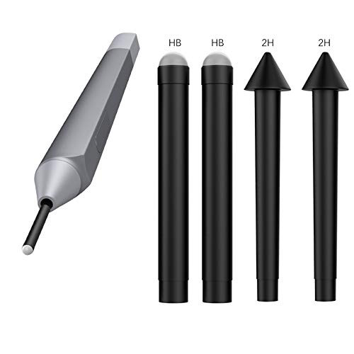 MoKo Pen Tips for Surface Pen Set of 5 (HB/HB/HB/2H/2H), Surface Pen Tip Replacement Kit Compatible with Surface Pro 2017 Pen (Model 1776)/Surface Pro 4 Pen, Original Pen Nibs Refill for Stylus Pen