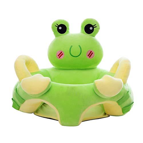 UNCTAD Infant Learning Sitz Stuhl Mit rutschfestem Boden - Anti-Drop und Anti-Deformation Baby Plüsch Stuhl Sofa Mit Stange für Babys von 3-6 MonatenA