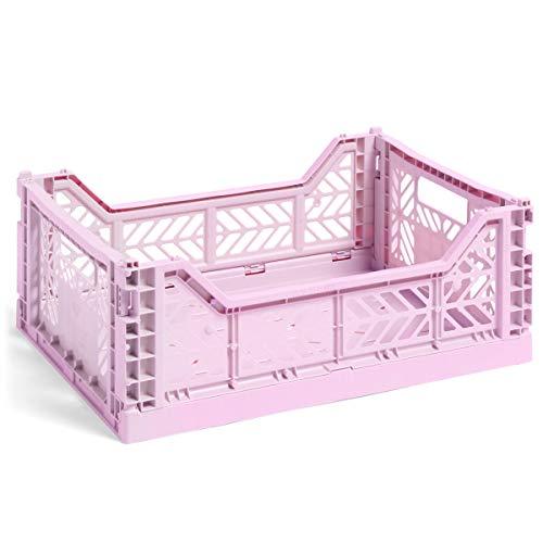HAY Colour Crate M, Transportbox, lila, Höhe: 14,5 cm, Tiefe: 30 cm, Länge: 40 cm