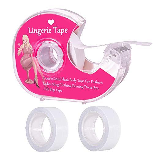 Body Tape Transparenter Stoff starkes doppelseitiges Klebeband für Kleidung, Kleid, BH, Haut, Bikini, 15 m