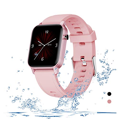 Fitness Tracker Smart Watch - Heart Rate Tracker Step Calorie Sleep Tracking Camera Control IP68 Waterproof 1.4 Inch Color Touch Screen Tracking Smatwatch for Women Men