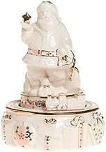 Lenox China Jewels Porcelain Santa Musical Figurine