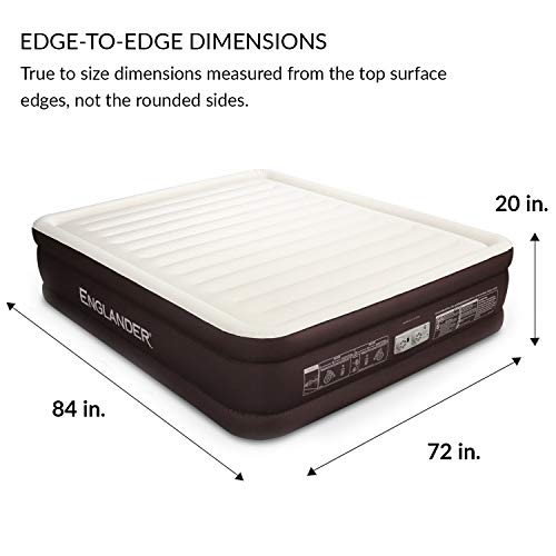 Englander First Ever Microfiber California King Air Mattress, Luxury Microfiber airbed with Built-in Pump, Highest...