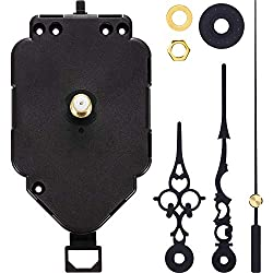 Hicarer Pendulum Clock Movement Quartz DIY Movement Kits Replacement Pendulum Clock Movement Mechanism (Shaft Length 0.79 Inch)