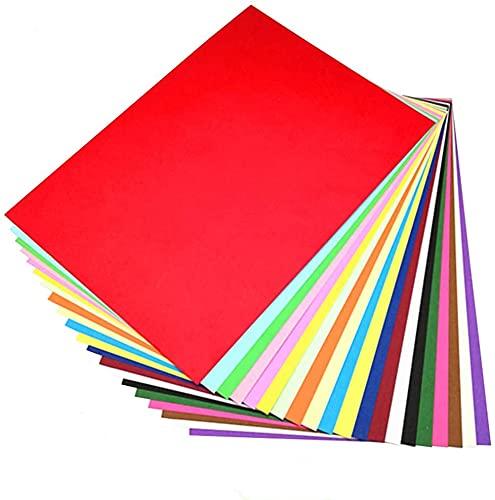 Papel de Color A4 Cartulina DIN A4 Perfecto para Proyectos Escolares y Artesanales 80gsm 20 Colores Paquete de 100