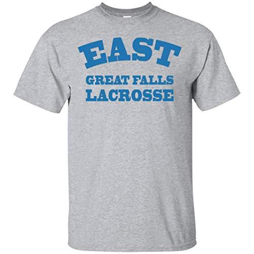 Cool East Great Falls High School Lacrosse T-Shirt Funny American Pie Sport Grey T-Shirt