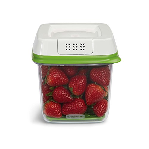 Why Choose Rubbermaid FreshWorks Produce Saver Food Storage Container, Medium, 6.3 Cup, Green 192047...