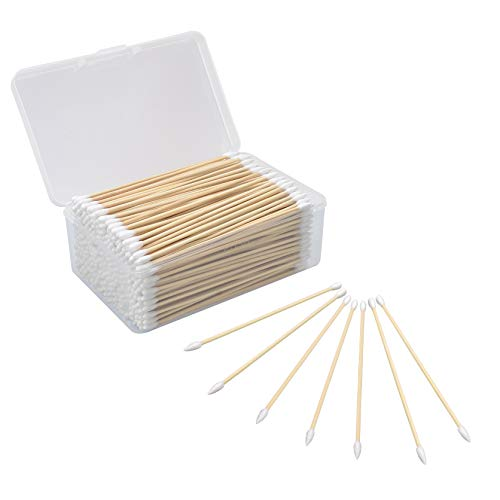 BOOSTEADY 6 Inch Cotton Gun Cleaning Swabs with Bamboo...
