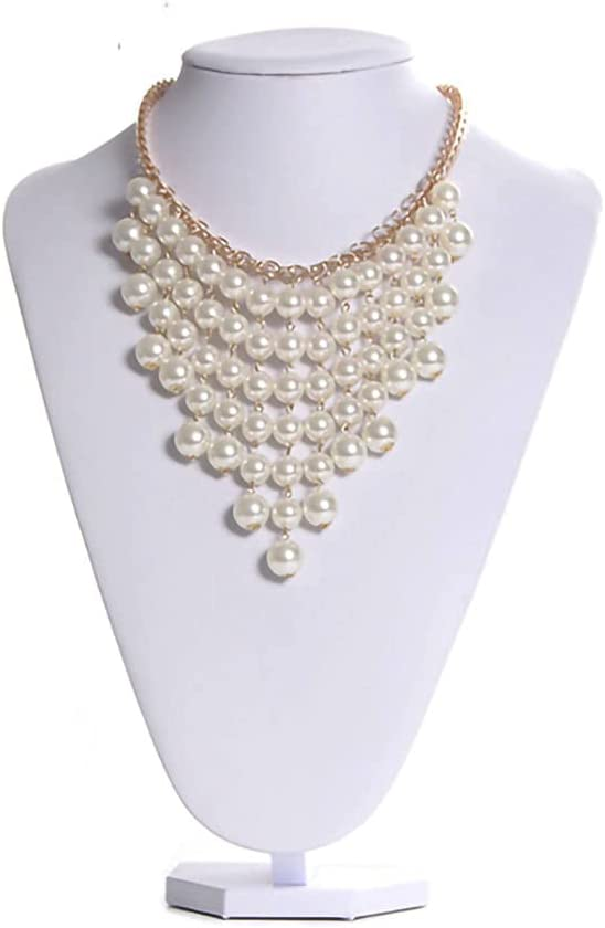 Homeanda White PU Leather Necklace Chain Credence Pendant Jewelry Bust Ne Ranking TOP16