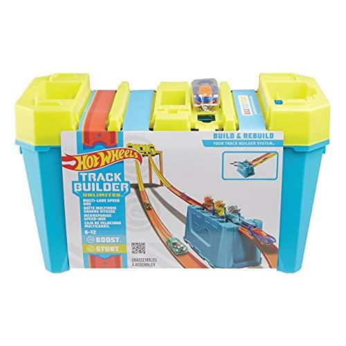 Oferta de Hot Wheels - Track Builder Ilimitado con Lanzador, Accesorios para Pistas de Coches de Juguete (Mattel GLC959)