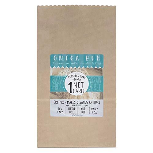 Omega Bun Dry Mix - Low Carb Bread, Keto Sandwich Bun, Gluten Free, Organic Ingredients