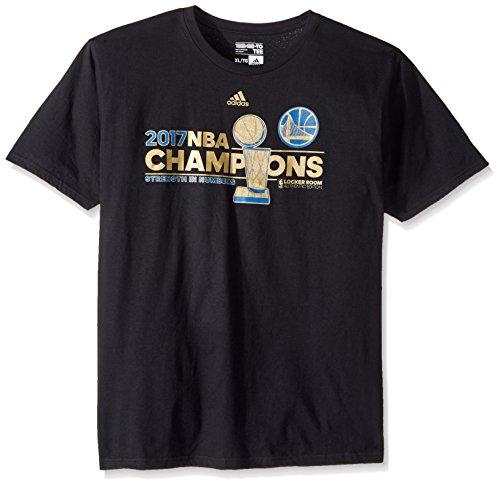 Golden State Warriors 2017 NBA Champions Adidas Locker Room Herren T-Shirt Gr. 58, Schwarz