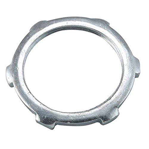 Hubbell-Raco 1196B2 Locknut, Steel, Rigid/IMC Conduit, Non-UL, 1-1/2-Inch, 2-Pack