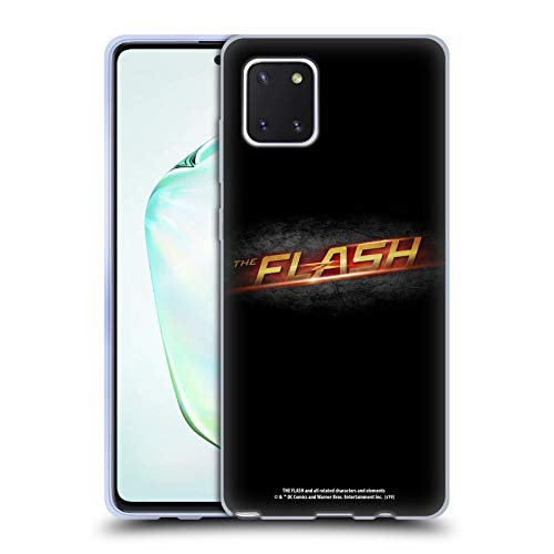 Head Case Designs Oficial The Flash TV Series Negro Logotipos Carcasa de Gel de Silicona Compatible con Samsung Galaxy Note10 Lite
