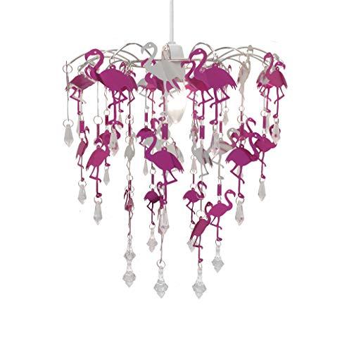 Kinder Meerjungfrau Flamingo Feen Schlafzimmer Kronleuchter Schlafzimmer Lampenschirm für Mädchen Kinderzimmer Dekoration (Flamingo)