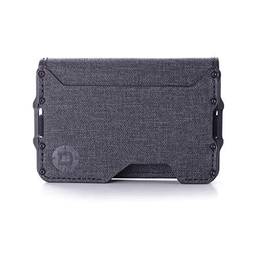 Dango D03 Dapper Bifold EDC Wallet - Made in USA - Water-Resistant, Slim, Minimalist, Metal, RFID Blocking