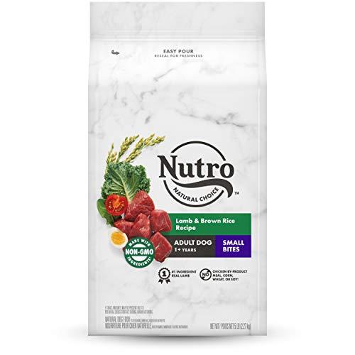 NUTRO WHOLESOME ESSENTIALS Natural Adult Dry Dog Food Small Bites Lamb & Rice Recipe Dog Kibble, 5 lb. Bag