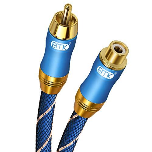 Cable de Extensión RCA para Subwoofer, RCA Macho a Hembra Cable de...
