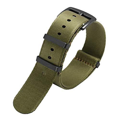 MGHN Correa de Reloj de Nailon 20mm 22mm Tela de Nylon Reloj de la Banda de la Banda del Reloj del Reloj de Reloj de Reloj de Reloj (Band Color : B01, Band Width : 20mm)