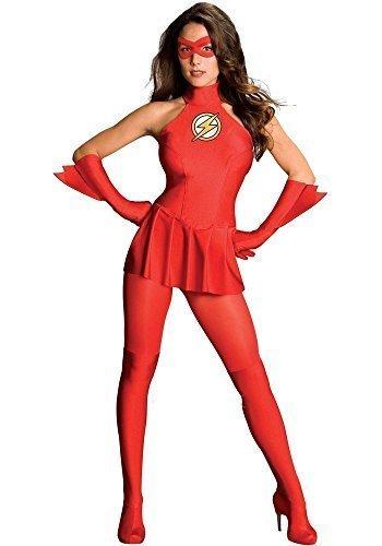 de 5 pièces Femmes The Flash Super Héros journée du Livre Halloween Costume déguisement 6-18 - Rouge, 12-14