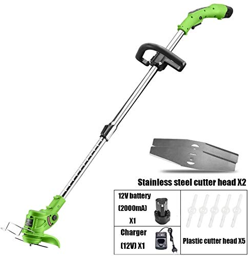 Find Bargain REWD String Trimmers Electric Grass Strimmer Telescopic Cordless Garden Trimmer Weed Cu...