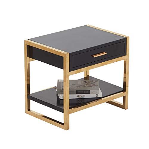 BZ-ZK SZQ Creatief gouden nachtkastje, huishouden, Scandinavische stijl, hoekbank, 1 paar ijzeren kunst, decoratieve tafel, glazen theetafel, prachtig handwerk