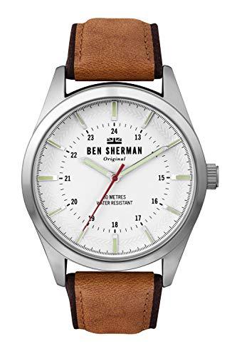 Ben Sherman Herren Analog Quarz Uhr mit Leder Armband WB027T