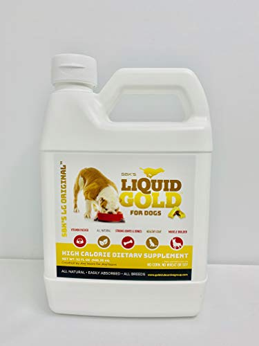 SBK'S Liquid Gold High Calorie Supplement for Canines and Felines- 32 oz (Bacon)