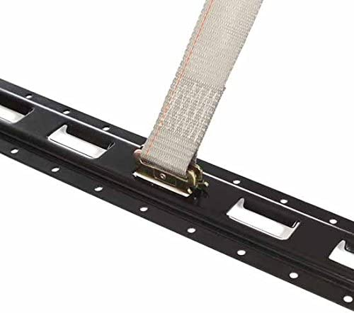 Heavy Duty Grey Polyester Tie-Downs ETrack Spring Fittings 2 x 16 Durable Ratcheting Strap Cargo TieDowns 20 E Track Ratchet Tie-Down Cargo Straps