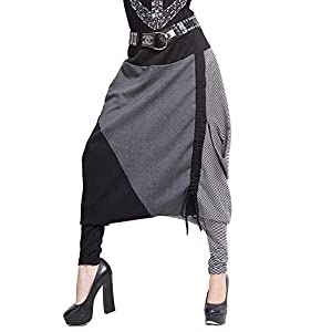 Mujer ELLAZHU Baggy Harem Pantalón de cordón longitud ajustable (talla única gy259 | DeHippies.com