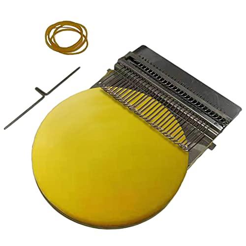 Hengjierun Kit de zurcido de Calcetines, Mini máquina de zurcir, Accesorio de Herramienta de Telar para Manualidades, para Adultos y niños, Bricolaje, Clase de artesanía, zurcir en casa