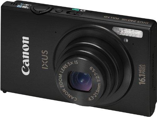 Canon IXUS 240 HS Digitalkamera (16,1 MP, 5-fach opt. Zoom, 8,1cm (3,2 Zoll) Touch-Display, WiFi, Full-HD) schwarz