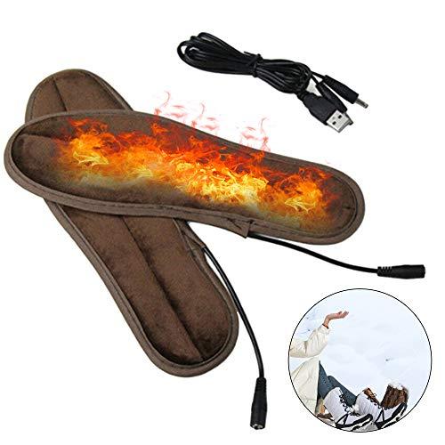 Beheizte Einlegesohlen,Wärmesohle,Sohlenwärmer,Waschbar Schuhheizung,Beheizbare Einlegesohlen,Beheizbare Sohlen,USB Wiederaufladbare Heizung Einlegesohlen Fußwärmer für Männer und Frauen,Größe 39-46