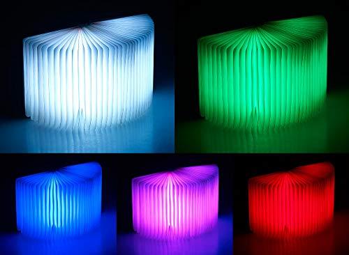 Lunartec Buchlampe: Klappbare LED-Stimmungsleuchte im Buch-Design, 5 Farben, 0,2 Watt (Buchleuchte) - 9