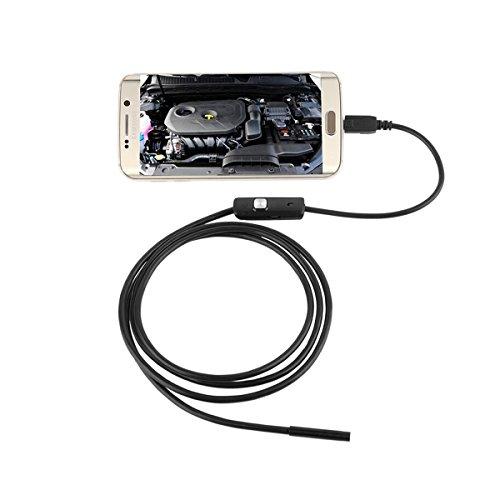 Mobestech Câmera de inspeção à prova d' água 3, 5 M 7 mm 6 LED IP67 para telefones Android (preta)