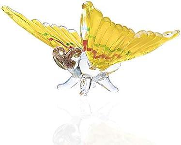 Luxdeoo Estatuas para jardín Muñeca de Cristal de Mariposa soplada a Mano colección de Arte de Cristal de Murano Escultura Regalo Hecho a Mano decoración de Boda Familiar
