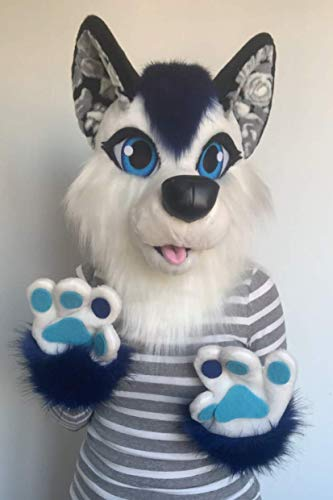 Wolf fursuit head I Wolf furry costume for kids I Kids fursuit I Wolf fursona