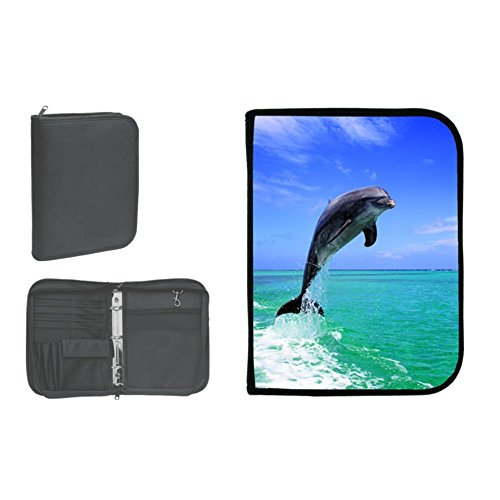 New Scuba Diving 3 Ring Zippered Log Book Binder with FREE Generic Log Insert ($12.95 Value) - Jumping Dolphin (Amphibious Outfitters)