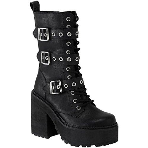 Killstar Plateaustiefel - Vendetta Platform Boots 42