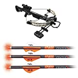 CenterPoint Archery CenterPoint AXCS185CK Sniper 370 Crossbow Package, Camouflage CP400 Select 400-Grain 20_inch Carbon Arrows with Lighted Nocks AXCP4SLN3PK, Pack of 3
