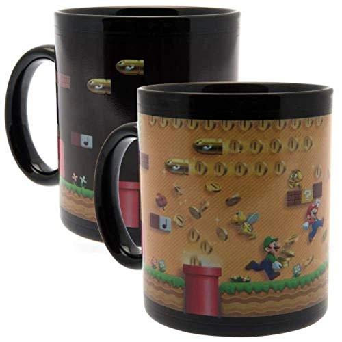 Nintendo La Ruée Vers Les Pièces d'Or Tasse Hitze Farbwechsel, Keramik, Mehrfarbig, 315 ml/11 oz