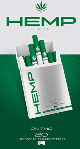 Hemp Toke - (Pack of 2) High Quality Premium Organic Herbal Hempette - 40 Count Pack - Tobacco & Nicotine Free Alternative - Quit Smoking Remedy