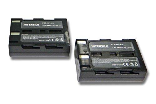 INTENSILO Li-Ion batería 1600mAh (7.4V) para cámara de Video, videocámara Pentax K10D,...